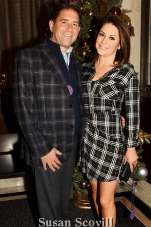 11. ''Good looking in Plaid'' - John Murabito and Carie Brescia attended the annual event.