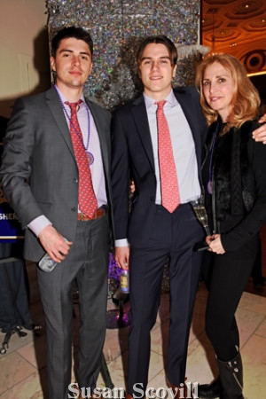 14. Karin Copeland came to the New Year's Day event with her sons Trevor and Dane Copeland.