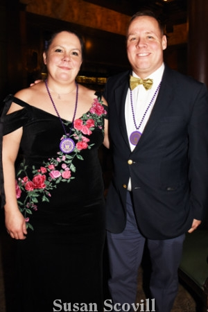 16. Dr. Bonnie Wright and her husband Rob , who just returned from a tour of duty in Kuwait, paused for a photo as they celebrated the New Year's Day event at the Union League!