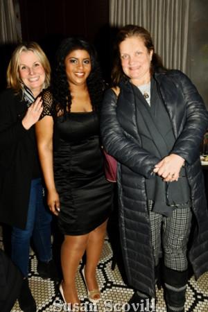 8. Carole Latimer shared a moment with Madelange Laroche and Jennifer Ronan.