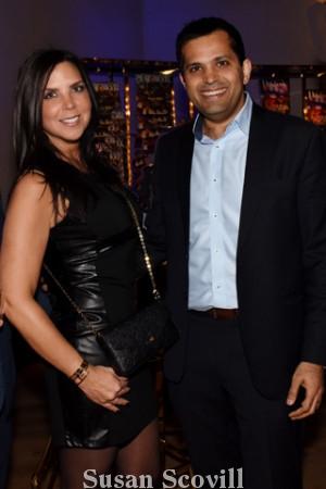 23.Melissa Leonard paused for a photo with Gaurav Gambhir.