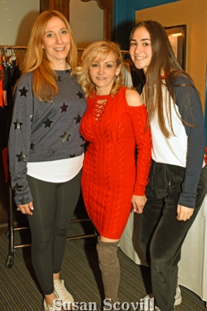 11. Julie Hersh and her daughter Jennifer of Addison Bay fashion x Fitness line paused for a photo with Donna Martella (center) of BellaDonna Gifts and Gift Baskets in Wayne..