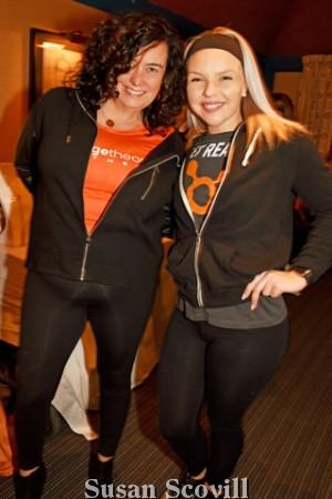 13. Missy Perry and Keri Milligan of Orangetheory Fitness Devon had fun at the event.
