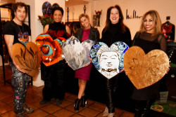 American Pop Artist Perry Milou brings a selection of art to the Nicole Miller Philadelphia boutique on Valentine's Day