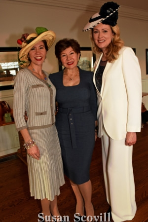 9. Milica Schiavio and her mother Gordana Loncar paused for a photo with Milliner Zoya Egan.