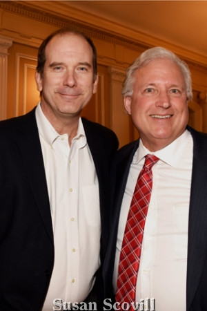 U.L.R.E Chair Bill Pennewell and David Blumenthal of the Cross Properties.