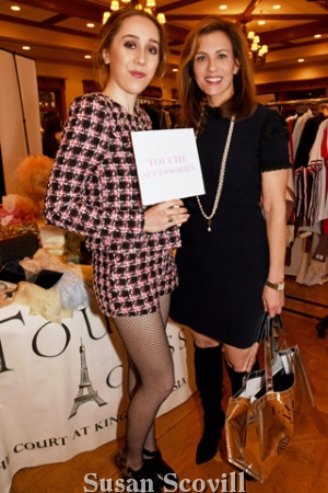 5. Anya McDonnell, wearing a Touché Accessories outfit, paused for a photo with Sara Moyher of Compass Real Estate.