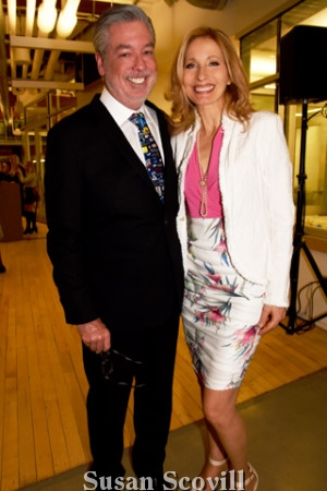 11. Drexel University president John Fry chatted with Linda Swain.