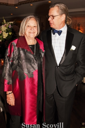"""14. Jane McElree received """"The Strength of Human Spirit Award"""" at the event. Jane and her son Crawford Hill were pictured following the presentation."""