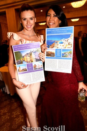 6. Sydney Hayday and Claudia Cothier encouraged guests to bid on these live auction trips.