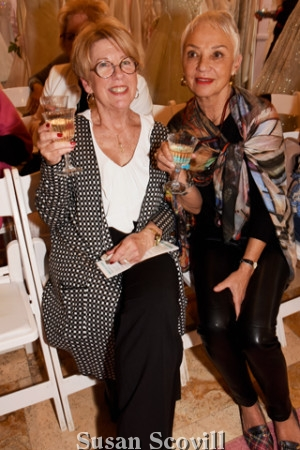6. Maryann Whiteman and Maureen Collins looked forward to the fashion show.