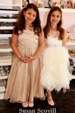 9. Marianna and Konstantina Economou were dressed as Flower Girls for the Fashion Show.