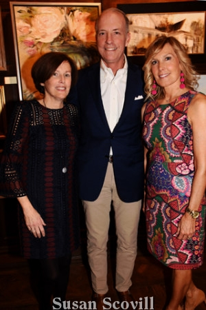 4. Publicity Chair Bridget Devine, her husband Jay Devine and committee member Cindy Pinnie paused for a photo during the Preview event. Bridget and Jay Devine are also Family Sponsors.