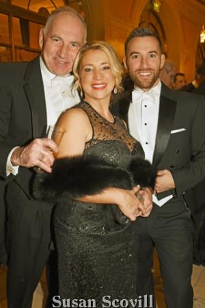 18. Peter Sharkey, Dr. Natasha Falcon and David Burnett.