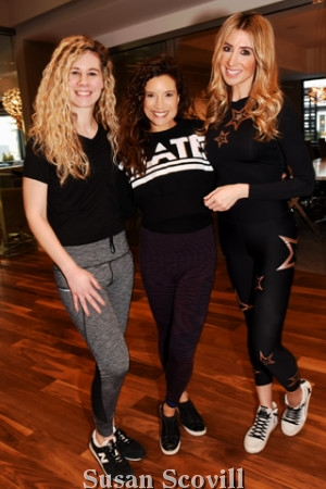 2. Ashley Cerasaro and publicist Kristy Sevag tried a few moves with Halley Bayer (center)!