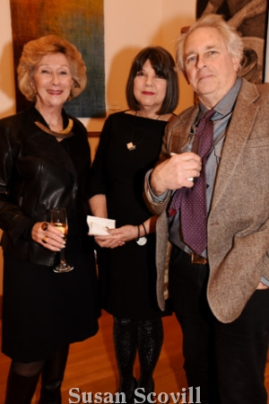 13. Marianne Tebbens chatted with Nannette and Chris Darway.