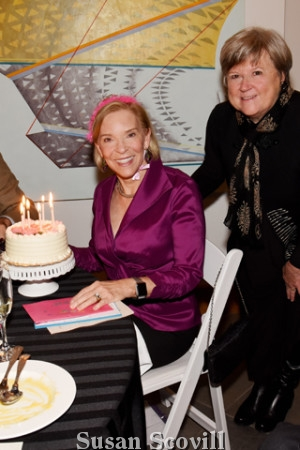 """14. It was Ann McIlvain's birthday (hence the cake) so Nancy Campbell wished her """"Happy Birthday."""""""
