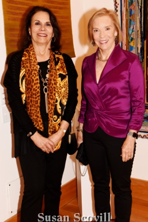 8. Barbara Chimicles chatted with Ann McIlvain.
