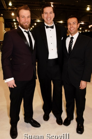 4. Mike Jones, James Finlay and Steve Albertella attended the Black Tie Tailgate event.