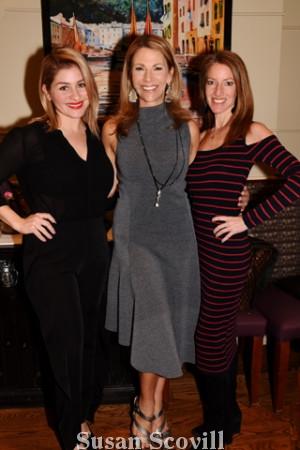 7. Olivia Calcione, Karen Hepp and publicity guru Leslie Gross-Padilla shared a moment at the kickoff event.