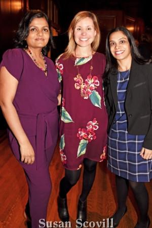 5. Palak Shah, Elizabeth Convery and Monica Jindia.