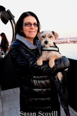 """15. Michelle Estelle brought her adorable Schnoodle """"May Dean"""" to the opening party."""