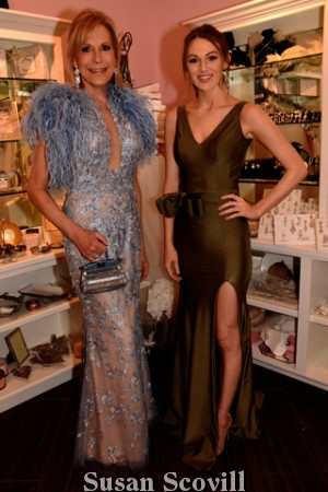 7. Sandra Yodesky and Jessica Swint modeled beautiful formal gowns available at The Van Cleve Wedding Pavilion.