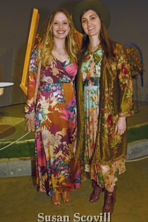 13. Bryce Donnon and Bri Crowley dressed in ''Flower Power'' style for the preview event.