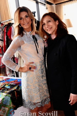 3. International Fashion Blogger, co-host on QVC and CBS Good Morning Connecticut television personality Debbie Allen Wright and Conni Alexandrian McDonnell of Touché Accessories, a Parisian Fashion & Accessories Boutique, paused for a photo at the Fashion Popup event.