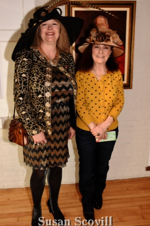 2. Pam Bastings and Livia Klaus wore their best chapeaus for this photo!