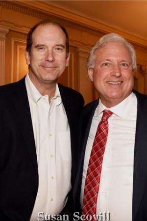 U.L.R.E Chair Bill Pennewell and David Blumenthal of the Cross Properties.