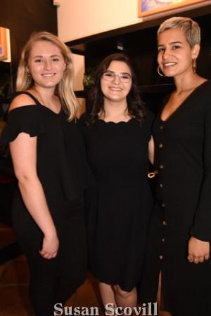 16. Paige Koedding, Stephanie Popa and Ileana Garcia.