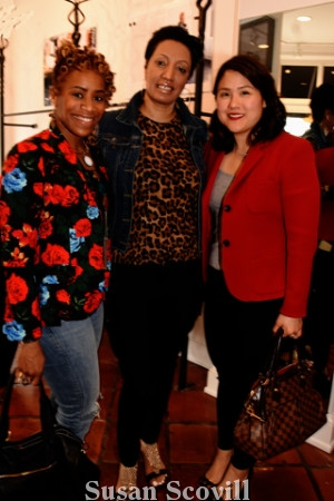 4. Regina Mitchell and Shirley Min of WHYY were pictured with Sabrina Pray (center) who manages the Nicole Miller Bellevue location.