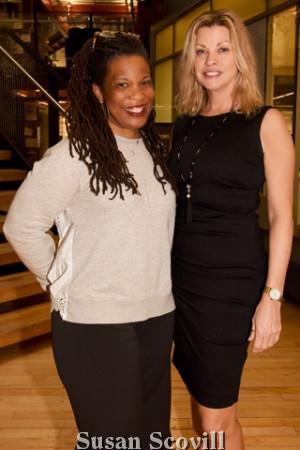 5. Philadelphia Inquirer columnist Elizabeth Wellington and Donna Coghlan.