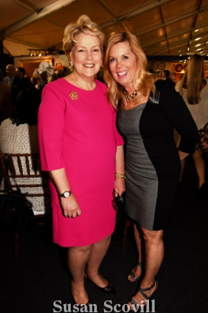 8. Philadelphia Art and Antiques Show chair Lynn Gadsden chatted with Sally Sharkey.