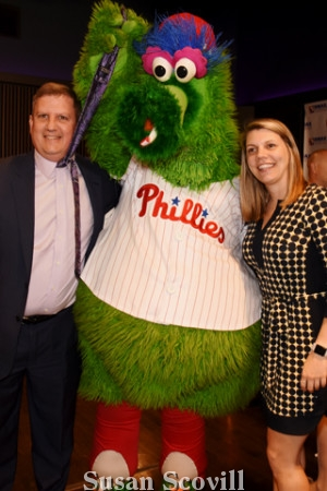 Everyone wanted to be pictured with the Phillie Phanatic!