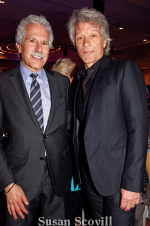 3. Rock Star and Project HOME supporter Jon Bon Jovi chatted with Lawrence Reichlin, Einstein's board chair during the event..