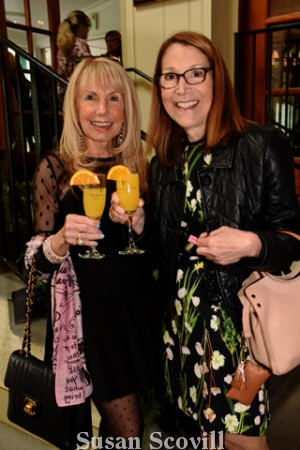 2. Deborah Van Cleve and Cecilia Rudman raised their Van Cleve champagne flutes in a toast to the event.