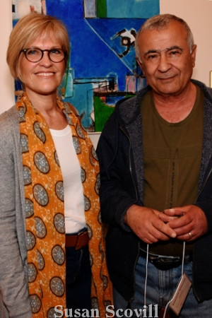 """5. Artist Sue Ciccone discussed Kassem Amoudi's entry """"On the Way Home"""" (above) with the artist."""