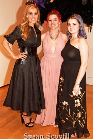 16. Artist Rebecca Segall (left), pictured with Ava Haitz and Gwen Nardone, displayed some of her work during the preview event.