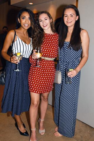 7. Tapasya Das, Sarah Kosciewicz and Marissa Borusiewicz loved the polka dots theme.