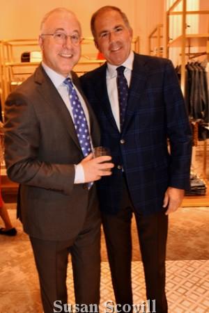 2. Boyd's Kent Gushner welcomed Steven Berkowitz to the benefit.
