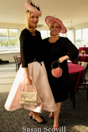 6. Zoya Egan and Kathleen Kenneally.sported Zoya's millinary at the Kentucky Oaks party,