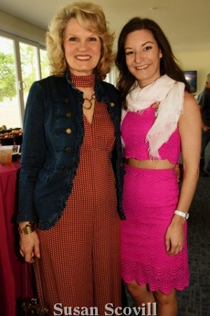 7. Devon Country Fair co-chair Eileen Devine chatted with Valerie D'Amico.