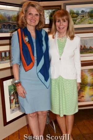 10. Devon Country Fair co-chairs Eileen Devine and Darlene DiGorio loved the art gallery