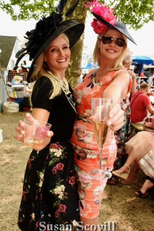 18. Melissa Tabasco and Donna Coghlan toasted the Ladies Day Hat competition.