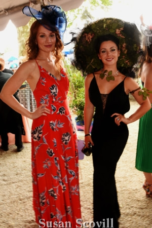 19. Elena Samane attended the event with Tatiana Lumiere.