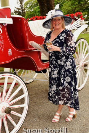 2. West Laurel Hill Director of Sales & Marketing Deborah Cassidy kicked off the event telling the horse drawn carriages to begin their tour of the historic cemetery.