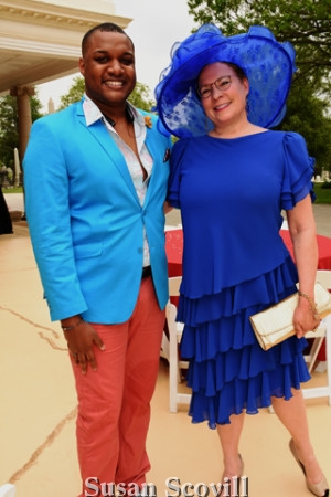 4. Television personality Ernest Owens was pictured with the fashionable Sharon Kozden.