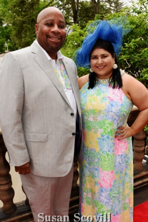 6. Walter and Jennifer Robinson arrived at the event wearing their best Kentucky Races attire!